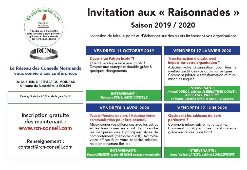 Raisonnades 2019-2020